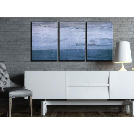 Wall26 3 Piece Canvas Wall Art Blue Color Abstract Artwork Modern Home Decor Stretched And Framed Ready To Hang 16x24x3 Panels