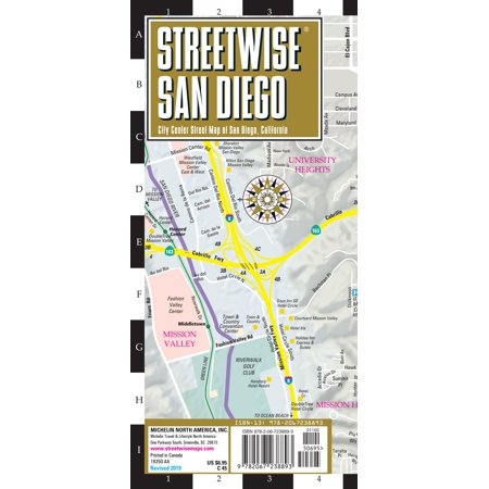 Michelin Streetwise Maps: Streetwise San Diego Map: Laminated City Center Map of San Diego, California (Other) - Party City San Diego California