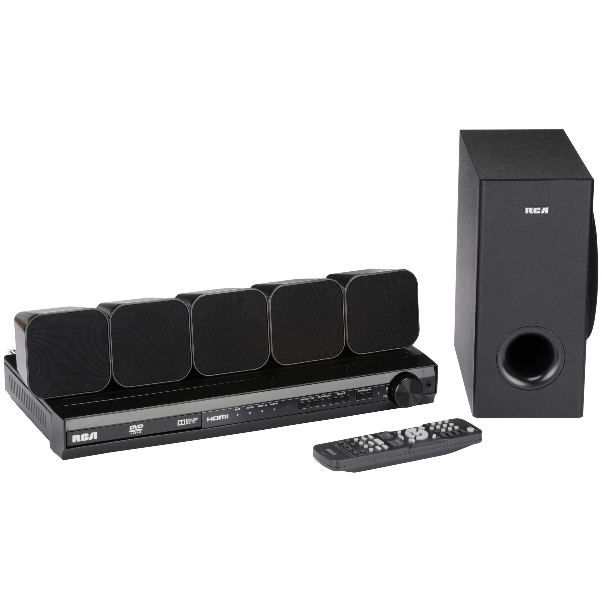 RCA DVD Home Theater System with HDMI 1080p Output 8 pc Box - Walmart.com