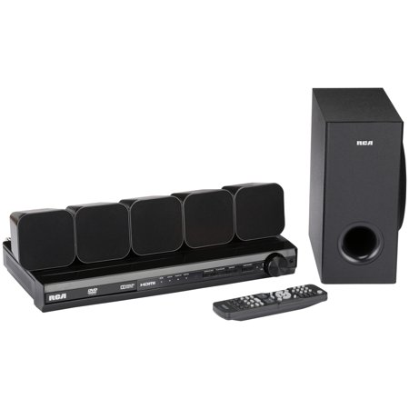 RCA DVD Home Theater System with HDMI 1080p Output 8 pc