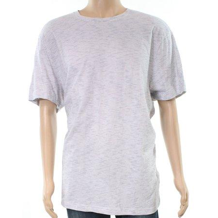 Club Room NEW White Black Mens Size 2XL Striped Crewneck Tee T-Shirt
