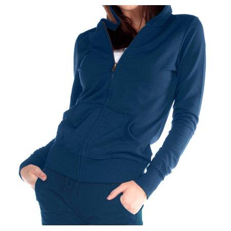 Kavio Junior Raw Edge L/S Zip Hoodie Jacket (Rglr Length), Style JFP0426