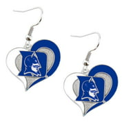 NCAA Duke Blue Devils Sports Team Logo Swirl Heart Dangle Earring Set