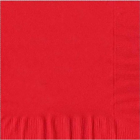 200 -  (4 Pks of 50) 2 Ply Plain Solid Colors Luncheon Dinner Napkins Paper - Red 3 Ply Paper Napkin