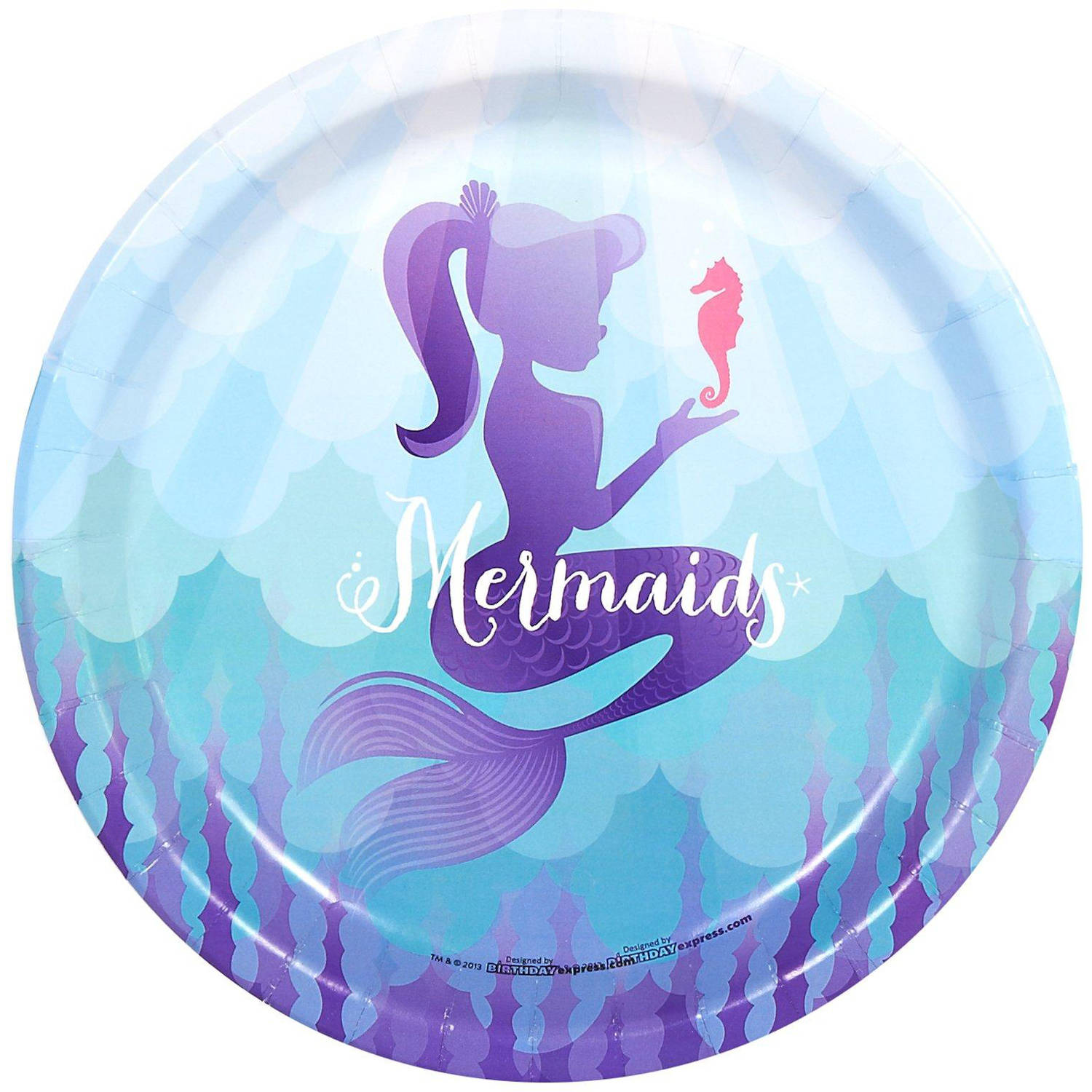 Mermaids Under the Sea Dinner Plates, 8pk