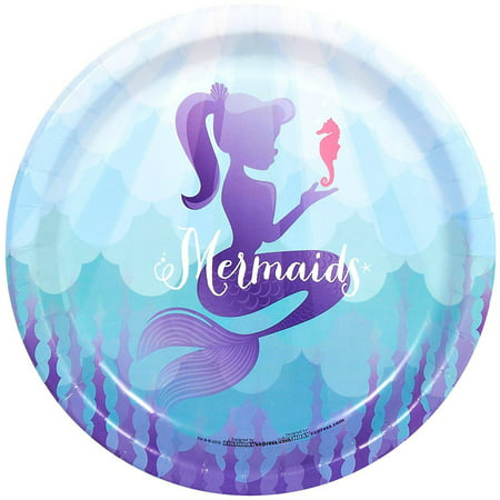 Mermaids Under the Sea Dinner Plates, 8pk