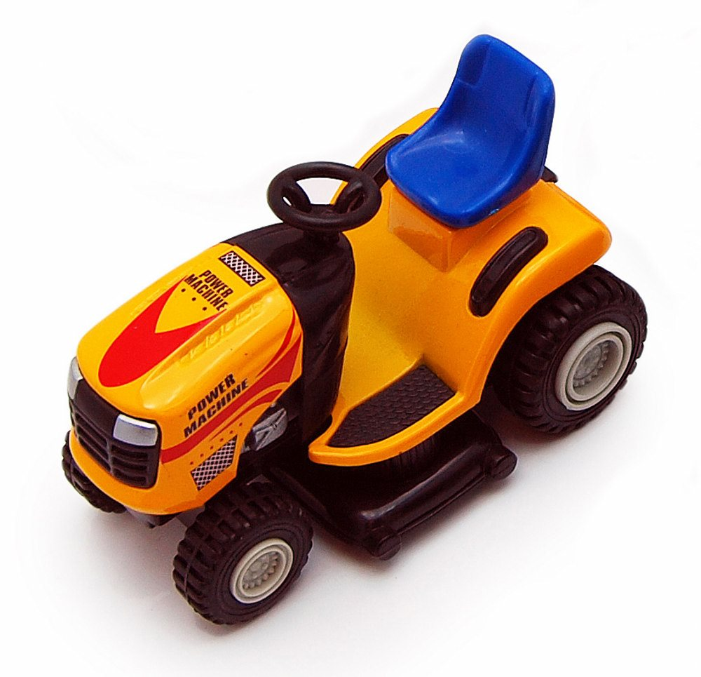 Super Lawn Tractor, Orange Showcasts 9669D 4 Inch Scale Diecast Model Replica (Brand but NOT IN BOX) by Showcasts
