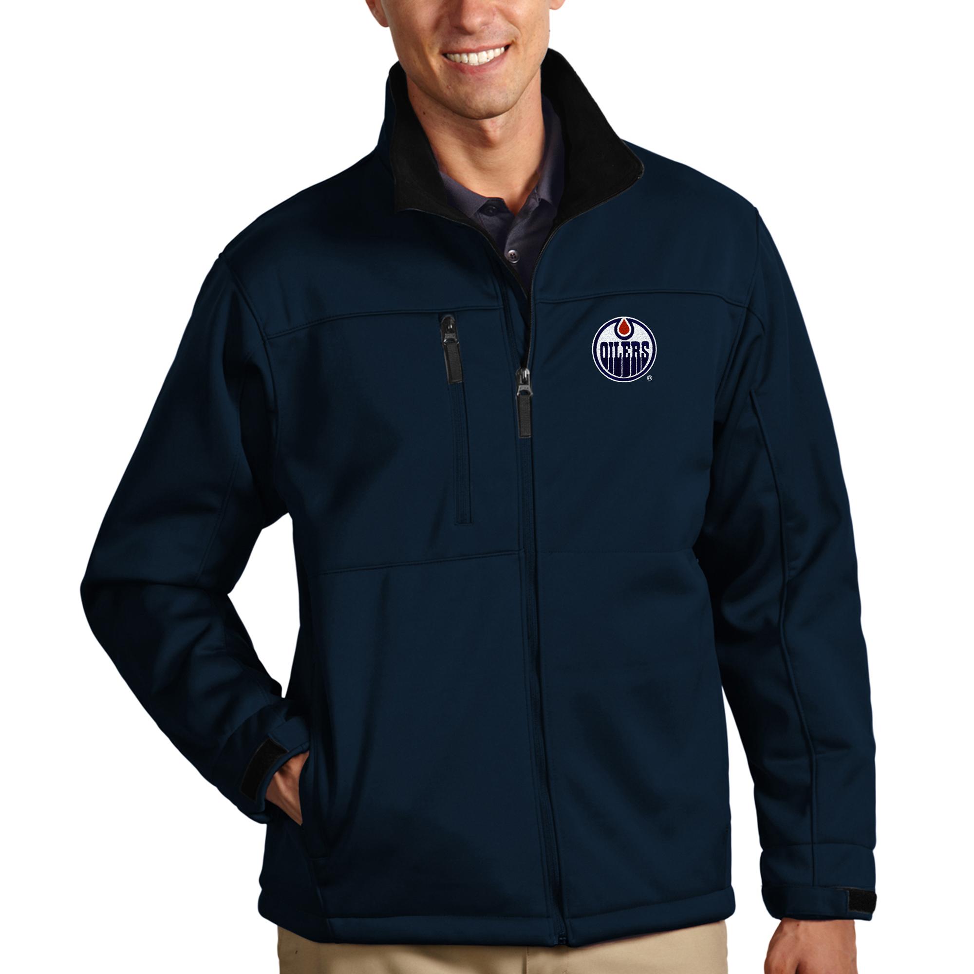 Edmonton Oilers Antigua Traverse Full-Zip Jacket - Navy