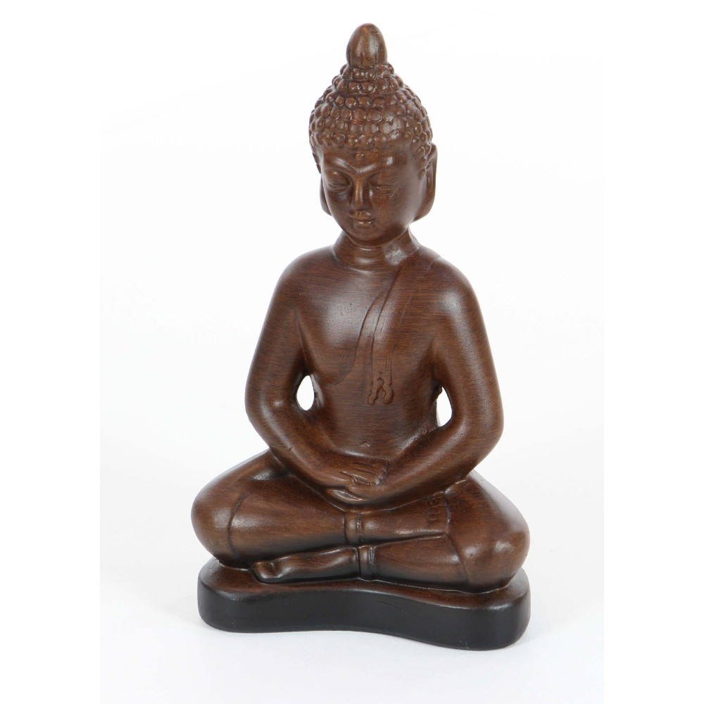 Novel Brown Ceramic Buddha Figurine by Benzara