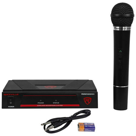 Rockville RWM1000VH VHF Wireless Single HandHeld Microphone Mic System ()