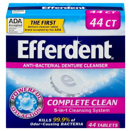 Efferdent Anti-Bacterial Denture Cleanser, 44