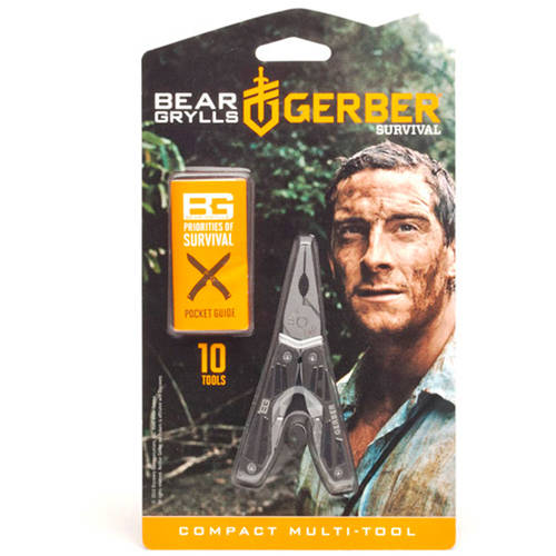 Gerber Bear Grylls Compact Multi-Tool with 10 Components