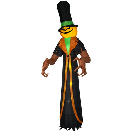 Halloween Airblown Inflatable Pumpkin Scrooge 12FT Tall by Gemmy - Inflatable Halloween Cat Archway