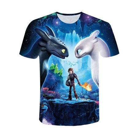 KABOER Men's How to Train Your Dragon The Hidden World Toothless Short Sleeve T-Shirt Top](Toothless Suit)