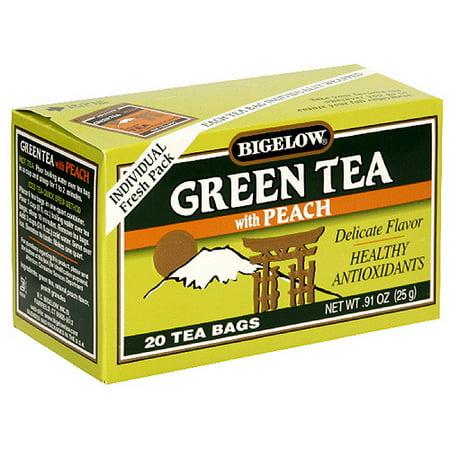 Bigelow Tous vert naturel Thé avec Peach, 20ct (Pack de 6)