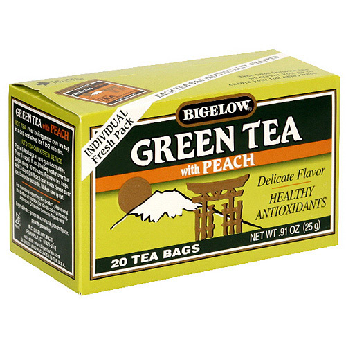 Bigelow All Natural Green Tea With Peach, 20ct  (Pack of 6)