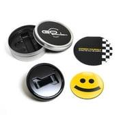 GoBadges Magnetic Grill Badge Holder Starter Kit - Type Face Smile
