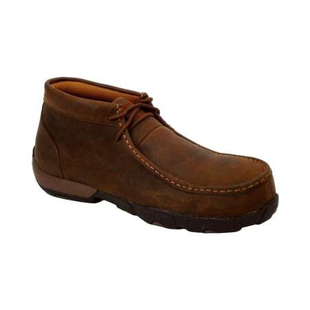 twisted x women's driving moc work shoes steel toe - wdmst01