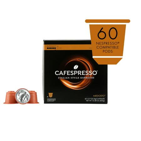 Cafespresso Medosto Espresso, Nespresso Compatible Pods (Capsules), 60 Ct.