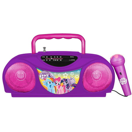 My Little Pony Radio Karaoke Portable FM Radio with - Emerson Portable Karaoke