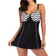 STARVNC Women Two-Piece Wave Print Bathing Suit Beach Swimsuit