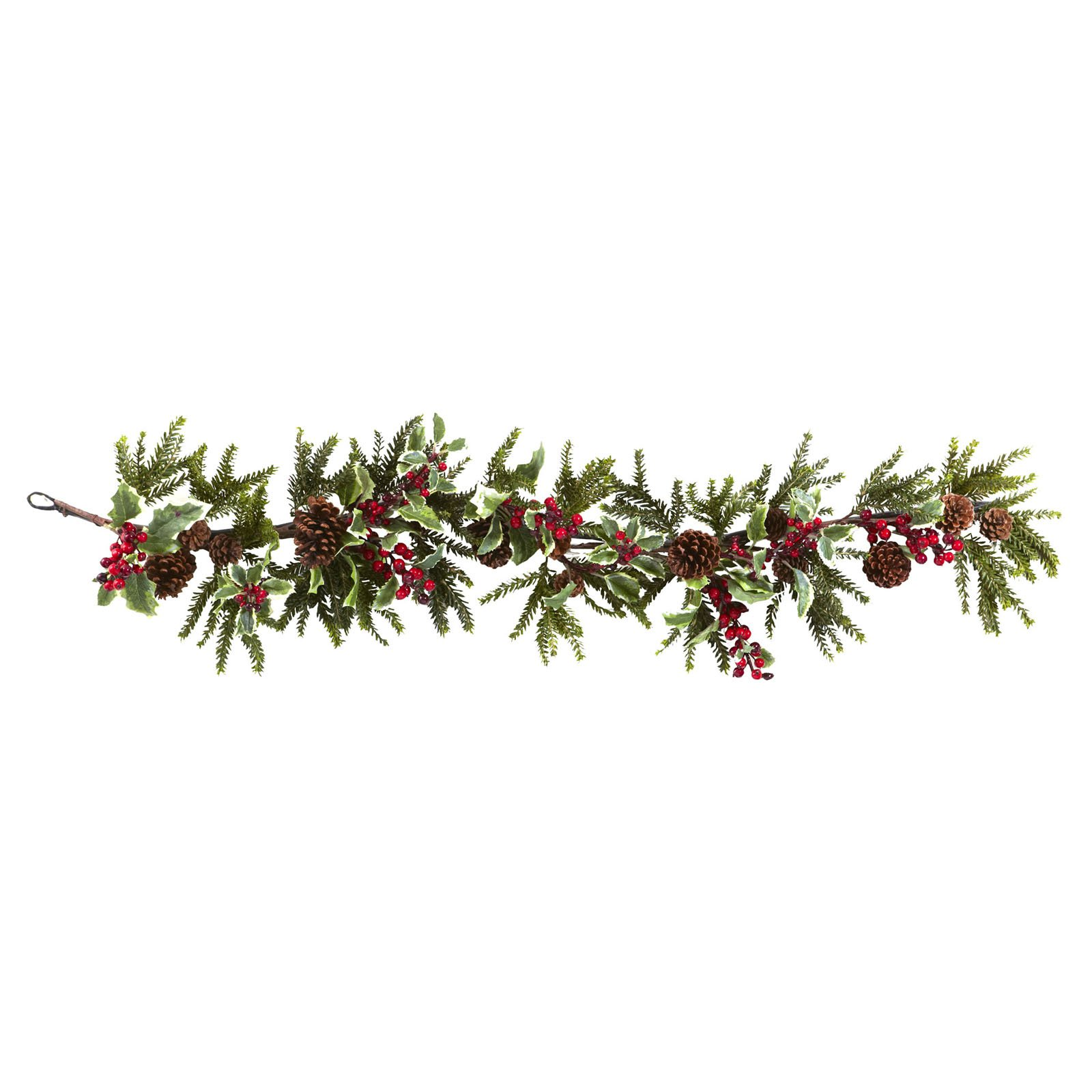 Nearly Natural 54 in. Holly Berry Garland