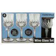 7 oz. Crystal Effect Plastic Wine Glass Set by Bulk Buys