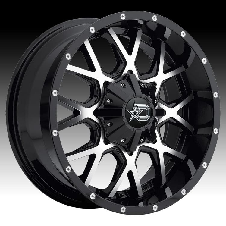 Dropstars 645MB Machined Black 20x9 6x135 / 6x5.5 18mm (6...