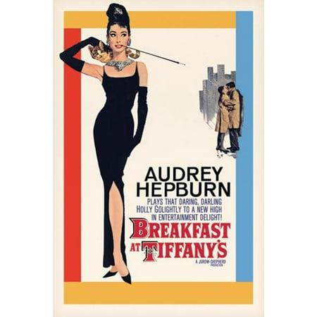 Breakfast at Tiffanys Audrey Hepburn Holly Golightly Romantic Comedy Movie Film Poster - 24x36 inch](Breakfast At Tiffanys Tabs)