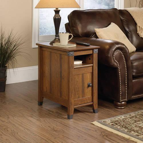 Sauder Carson Forge Side Table, Washington Cherry