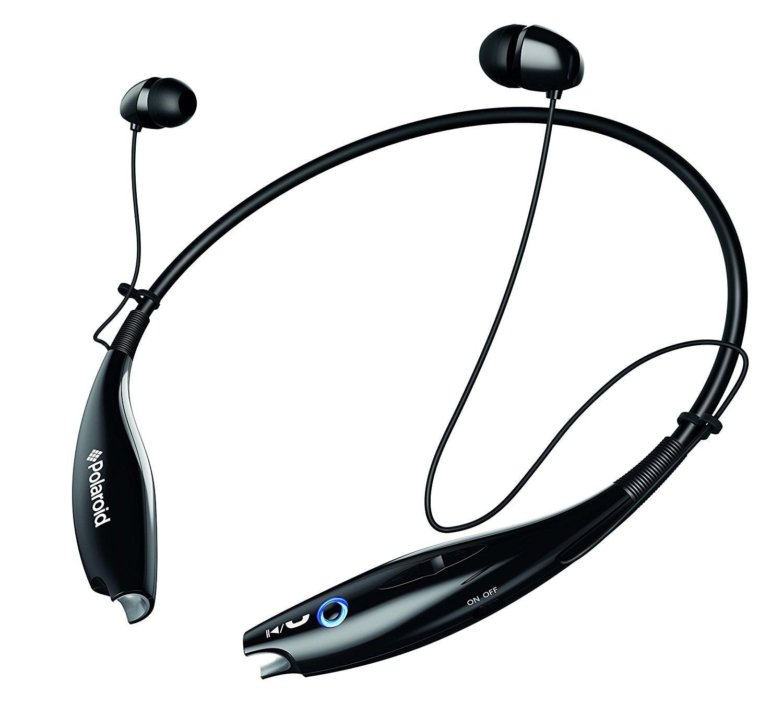 Polaroid Neckband with Magnetic Ear Tips Headphone , Black (PBT96BK)