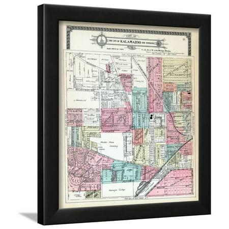 1910, Kalamazoo City, Kalamazoo College, Michigan, United States Framed Print Wall - Party City Kalamazoo