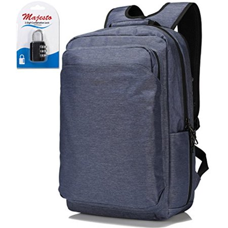 Business Laptop Backpack for 14 Inch Notebook for Travel and Commute with Bottle Holders and Lots of Pockets Water