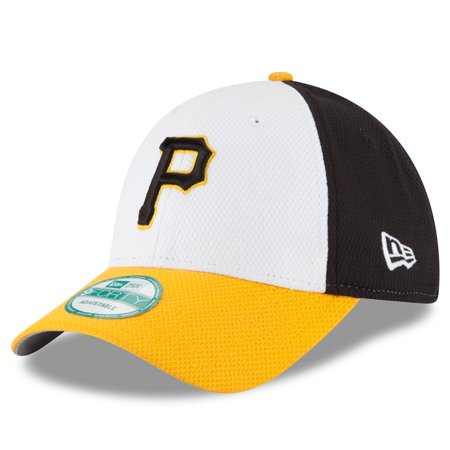 cbecfda7393 Pittsburgh Pirates New Era Perforated Block 9FORTY Adjustable Hat -  White Gold - OSFA