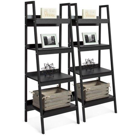 Zuo Modern Modern Bookcase - Best Choice Products Modern Wooden Ladder Bookcase (Set of 2)