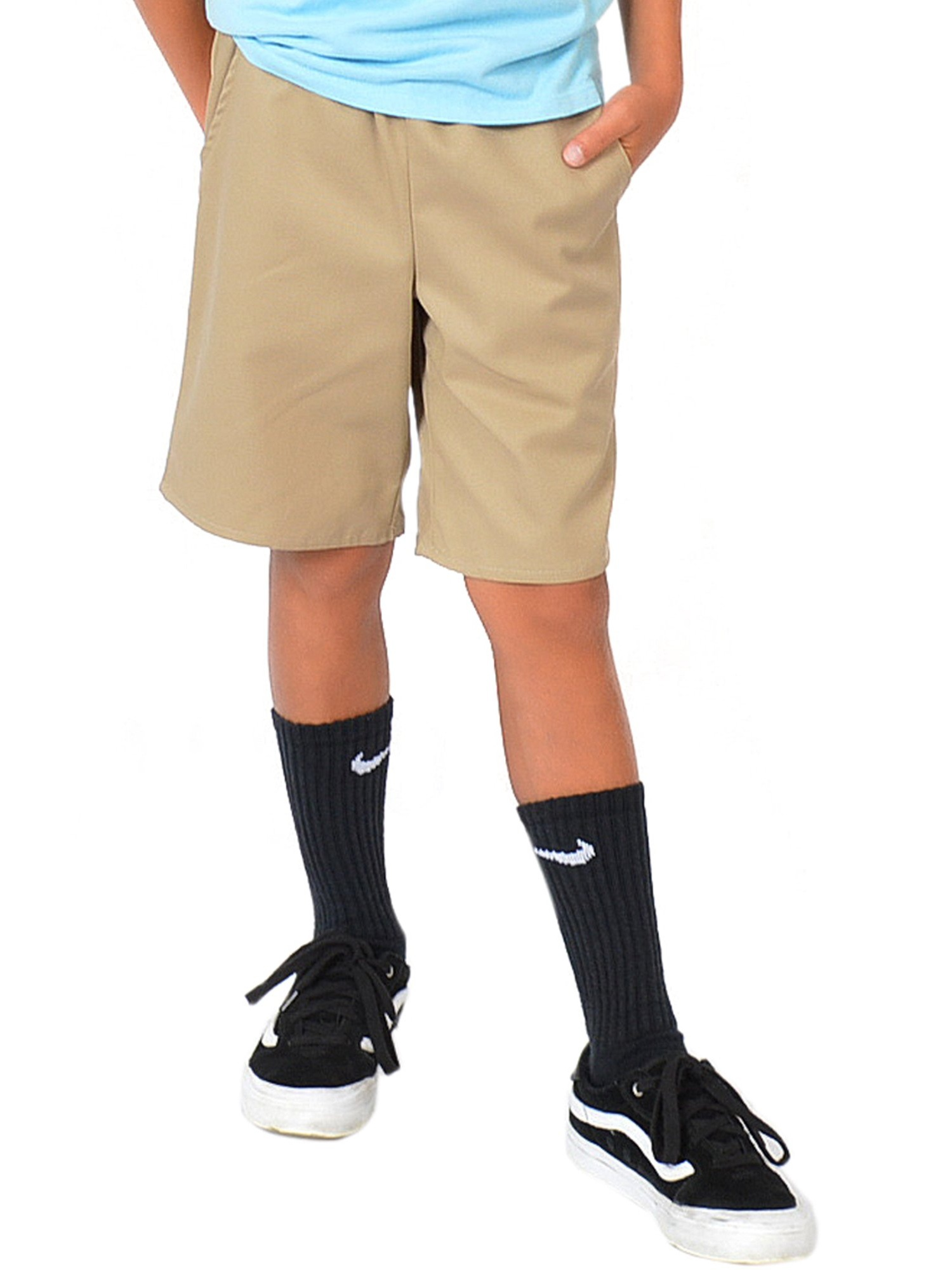 Boy's Uniform Shorts - Navy Blue / X-Small (4)