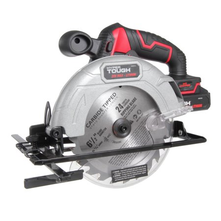 Hyper Tough 20V MAX Lithium-ion Cordless 6-1/2 inch Circular Saw with 1.5Ah Lithium-ion Battery, Charger, Blade & Rip Fence