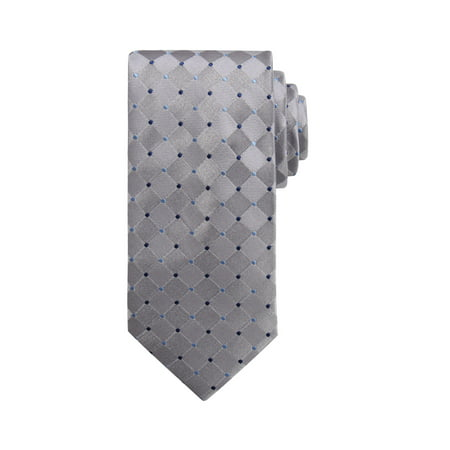 Dot Long Tie (Wembley Dot Grid NeckTie)