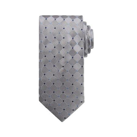 Wembley Dot Grid NeckTie - Grid Microfiber Tie