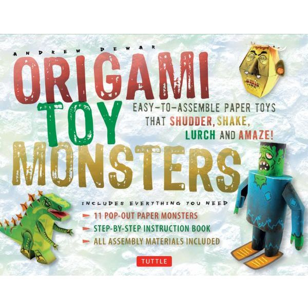 (Price/KT)Tuttle T844567 Origami Toy Monsters