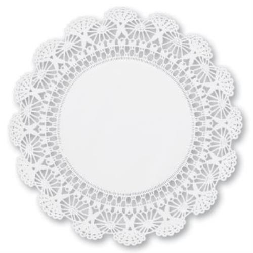 Cambridge Lace Paper 12-inch Doilies, White