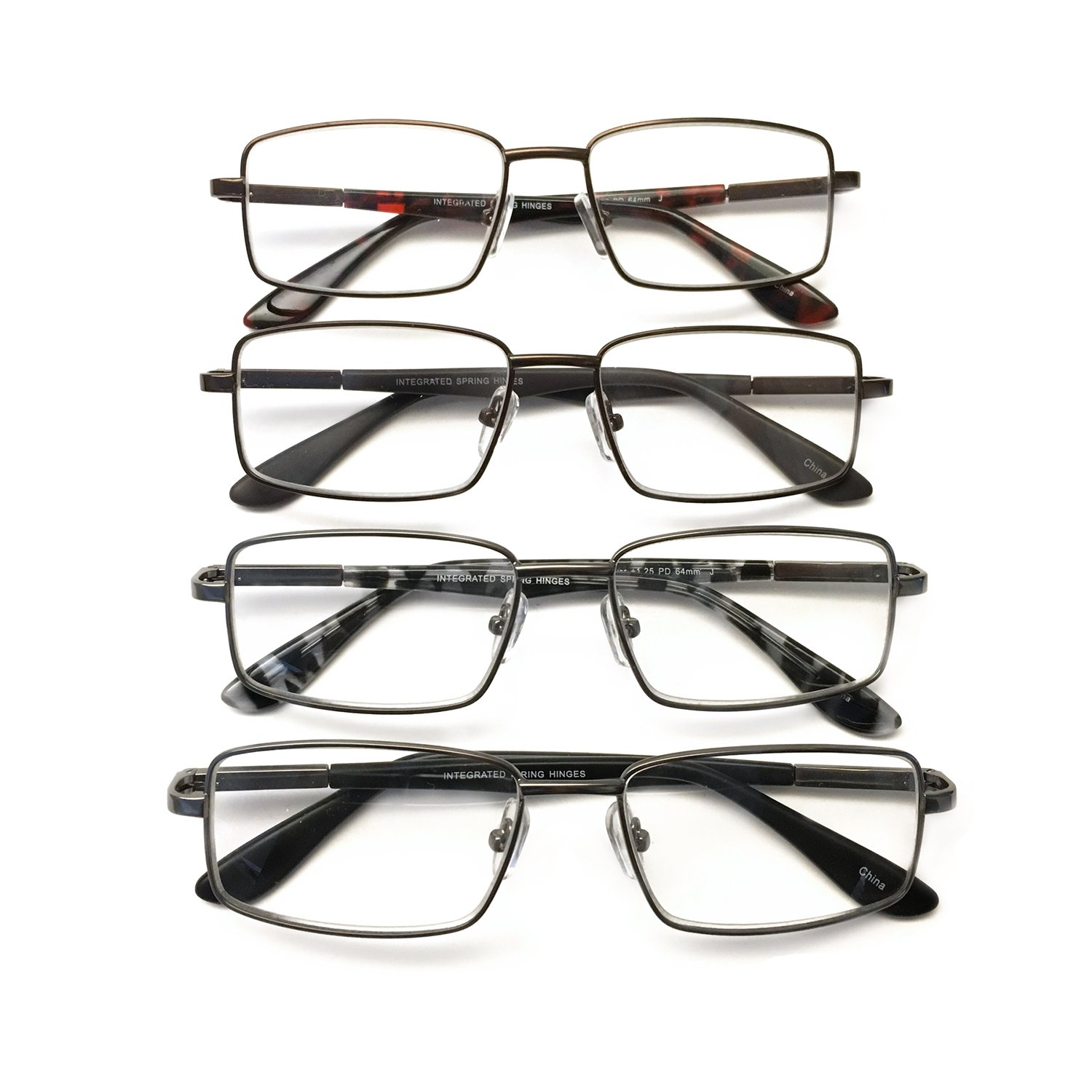 I.Image Men's Metal 4-Pack Reading Glasses, +1.75 Power