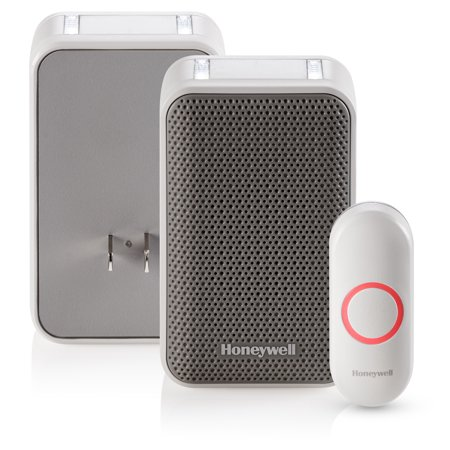 Designer Series Doorbell - Honeywell Series 3: Plug-In Doorbell with Strobe Light and Push Button (RDWL313P2000/E)