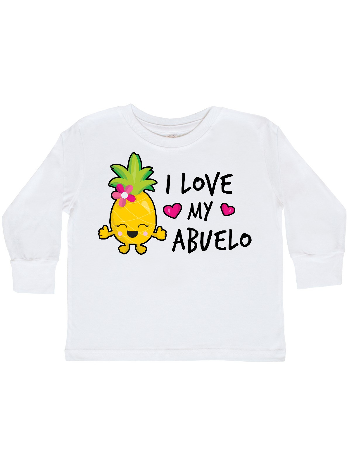 inktastic I Love My Abuelito with Pineapple Toddler T-Shirt