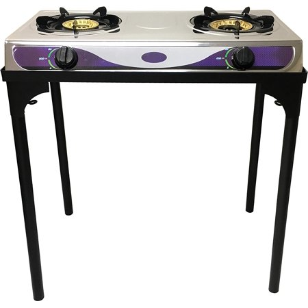 Heavy Duty Double Burner Propane Gas Stove Outdoor -
