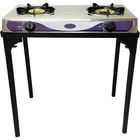 Heavy Duty Double Burner Propane Gas Stove Outdoor Cooking