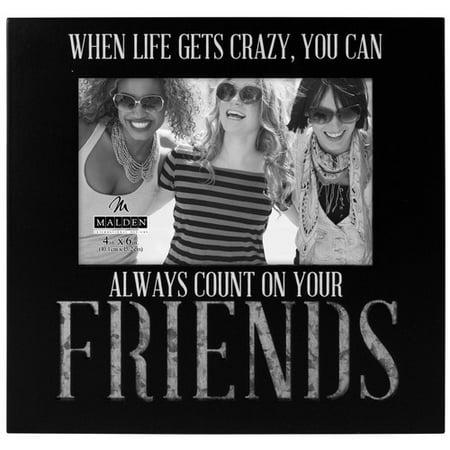 Malden Count On Friends Galvan Picture Frame