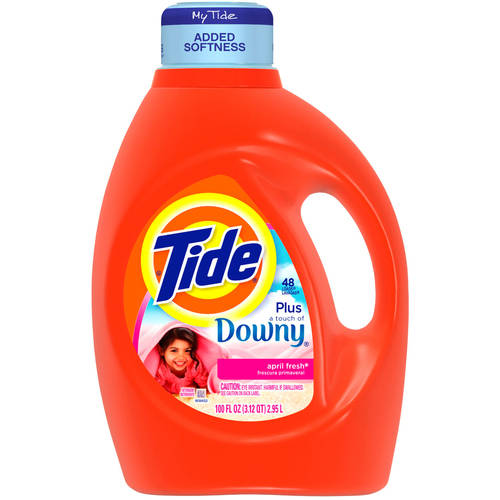 Tide April Fresh Liquid Laundry Detergent With Touch of Downy, 100 fl oz