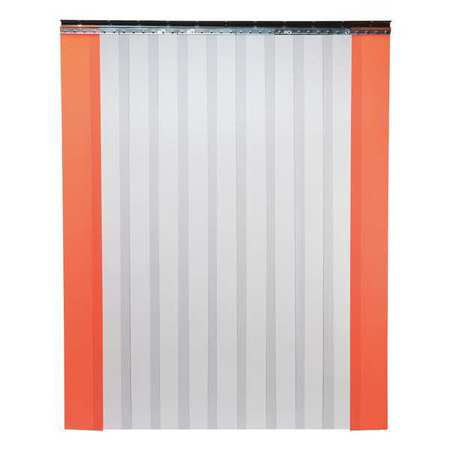 - TMI 999-00016 Strip Door, 7 x 4 ft, Clear/Orange, PVC