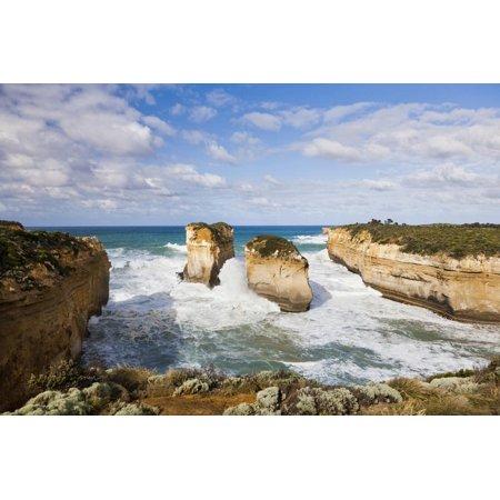 Coastline, Loch Ard Gorge, Elephant Rock, Muttonbird Is, Great Ocean Road, Australia Print Wall Art By Martin Zwick